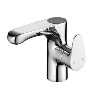 Chrome Polished Led Bathroom Sink Faucet Deck With Intelligent Digital Display Basin Faucet Cold And Hot Water Faucet Mixer Tap