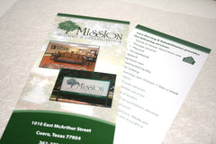 "Two Sided Rack Card, 4"" x 9"" Brochure"