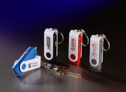 Key Chain with USB Car Adapter, 4 color imprint
