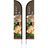 Half Drop (or Tear Drop) Double sided Banners w-hardware kit