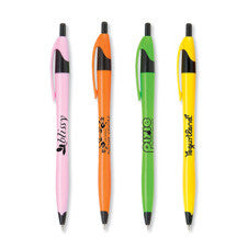 Stratus Pen - Bright Contoured Barrel & Black Trim
