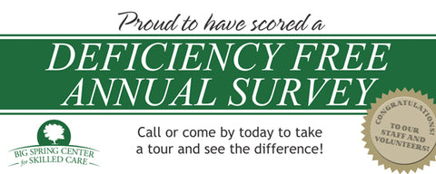 Deficiency Free Annual Survey Banner 5'x2'-Under $100