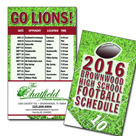 "School Sports Schedule Cards 3.5""x5""-Under $100"
