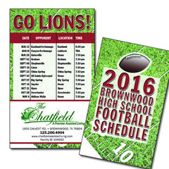 "Sports Schedule Cards 3.5""x5"""