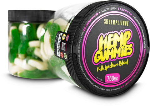 Hemplitude Full Spectrum Hemp Gummies Watermelon Slices