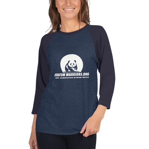 Unisex 3/4 sleeve raglan shirt - Chakra Corner best US Kratom and bulk pricing nootropics and supplement stacks