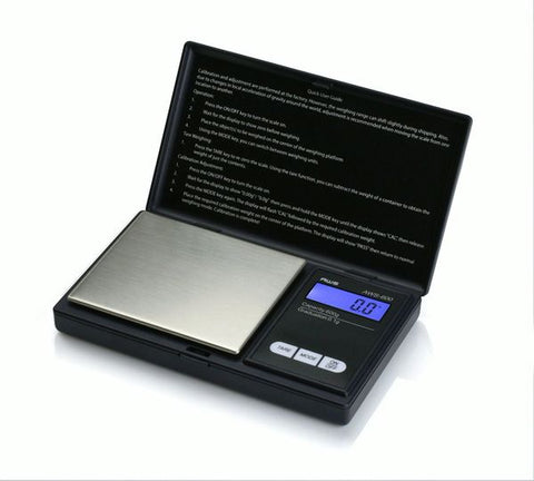 AMERICAN WEIGH SCALES DIGITAL PERSONAL NUTRITION SCALE, POCKET SIZE, BLACK