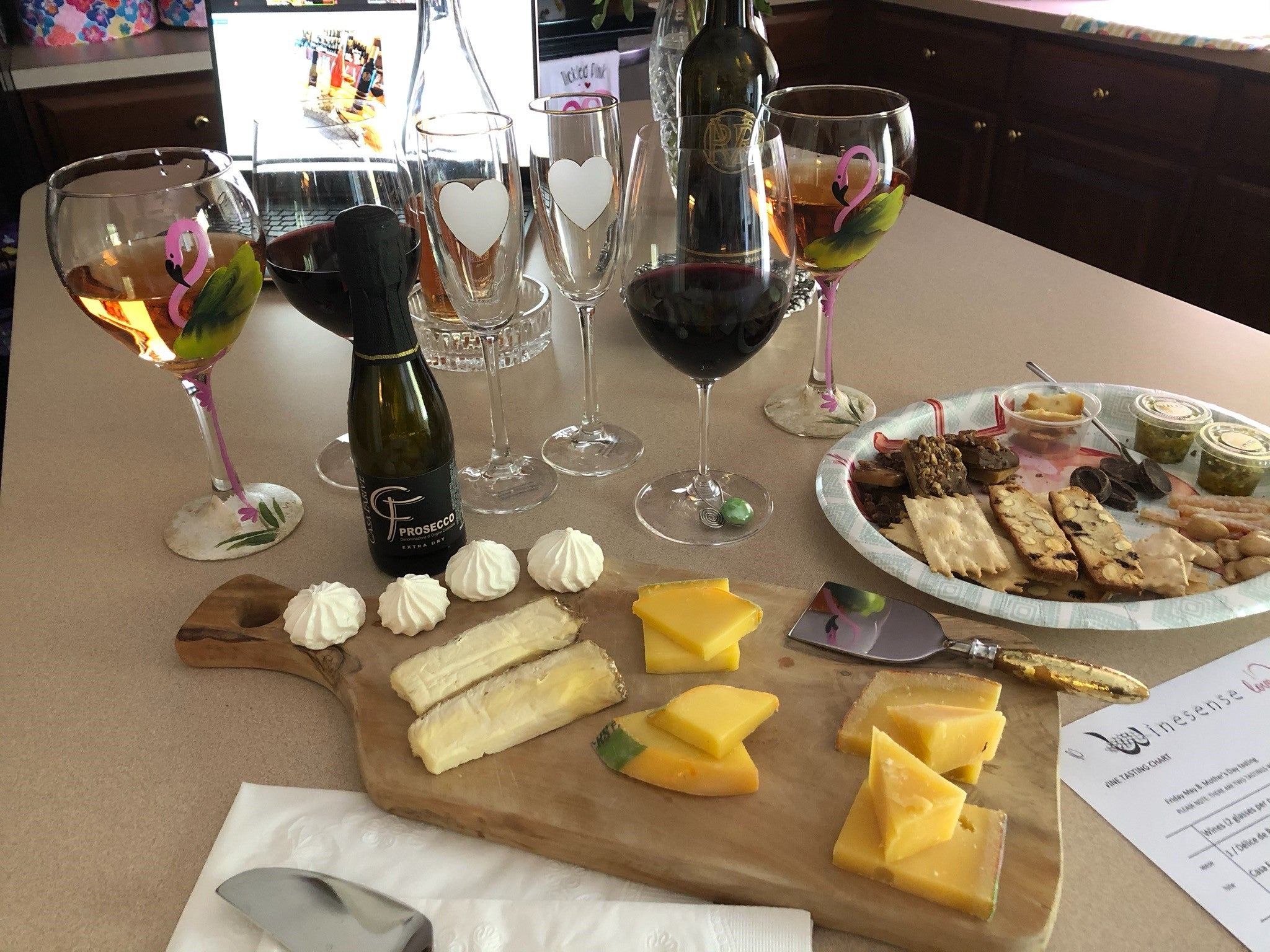 Virtual Cheese and Wine tasting featuring Mother's Day