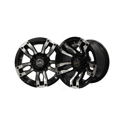 12x7 MJFX Machined/Black Velocity Wheel