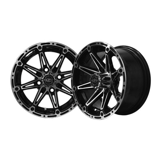 12x7 MJFX Machined/Black Element Wheel