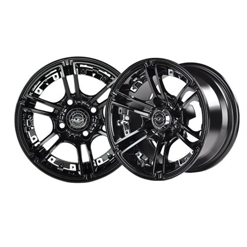 14x7 MJFX Black Mirage Wheel