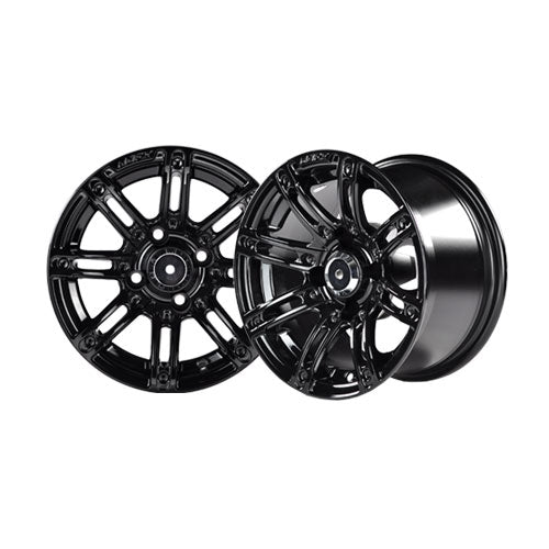 14x7 MJFX Black Illusion Wheel