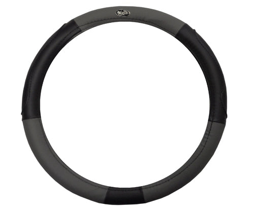 Madjax Black and Gray Steering Wheel Cover