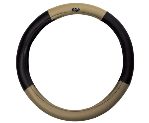 Madjax Black and Tan Braid Steering Wheel Cover