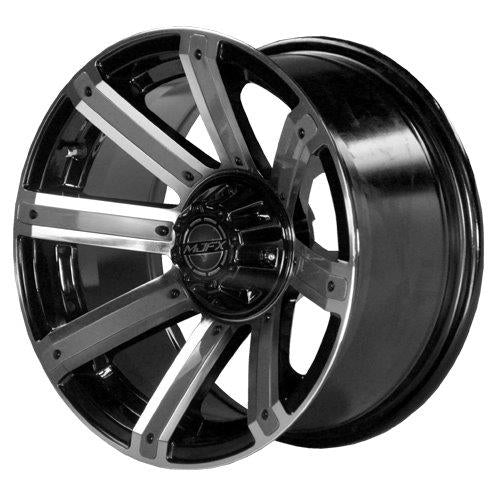 "12"" MJFX Avenger Machined & Black Wheel with Optional Color Inserts (3:4 Offset)"