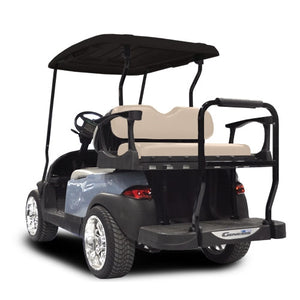 Madjax Genesis 300 with Standard Buff Aluminum Rear Flip Seat - Fits Club Car Precedent 2004-Up
