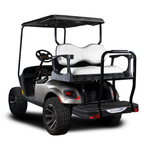 Madjax Genesis 300 with Deluxe White Aluminum Rear Flip Seat - Fits EZGO TXT