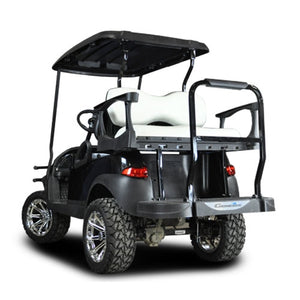 Madjax Genesis 250 with Deluxe White Steel Rear Flip Seat - Fits Club Car Precedent 2004-Up