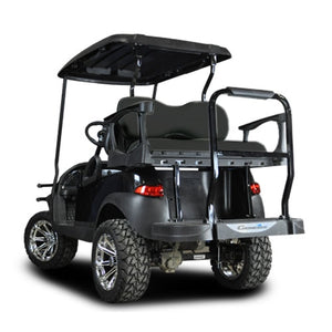 Madjax Genesis 250 with Deluxe Black Steel Rear Flip Seat - Fits Club Car Precedent 2004-Up