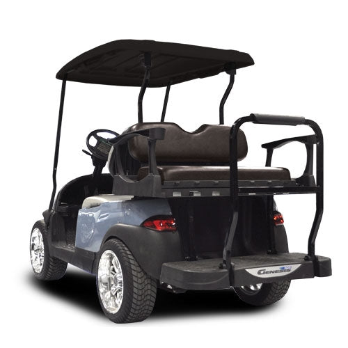 Madjax Genesis 250 with Standard Black Steel Rear Flip Seat - Fits Club Car Precedent 2004-Up