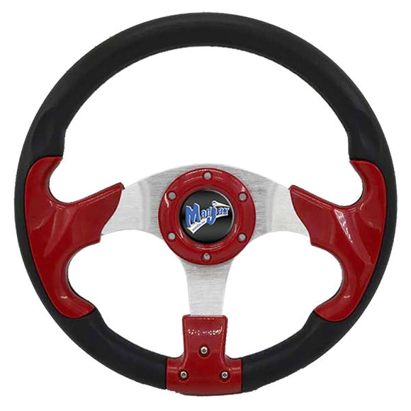 "Madjax 13"" Red and Black Razor Steering Wheel"
