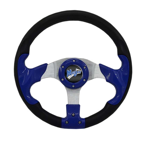 "Madjax 13"" Blue Razor Steering Wheel"