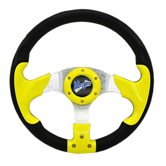 "Madjax 13"" Yellow and Black Razor Steering Wheel"