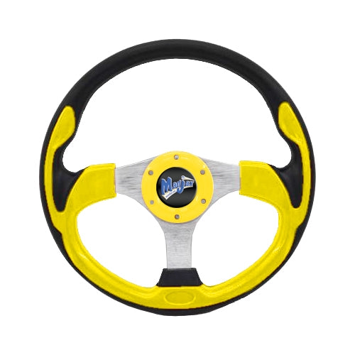 "Madjax 13"" Yellow Ultra2 Steering Wheel"