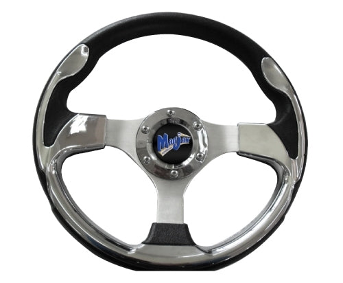 "Madjax 13"" Chrome Ultra2 Steering Wheel"