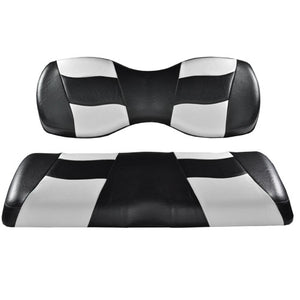 Madjax Riptide Black/White Two-Tone Genesis 250/300 Rear Seat Covers