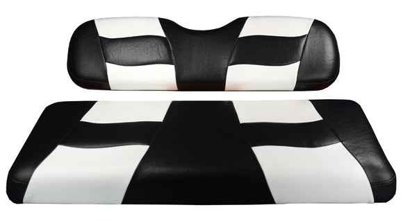 Madjax Riptide Black/White Two-Tone Genesis 150 Rear Seat Cushions