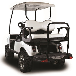 Madjax Genesis 300 with Deluxe White Aluminum Rear Flip Seat - Fits Club Car DS