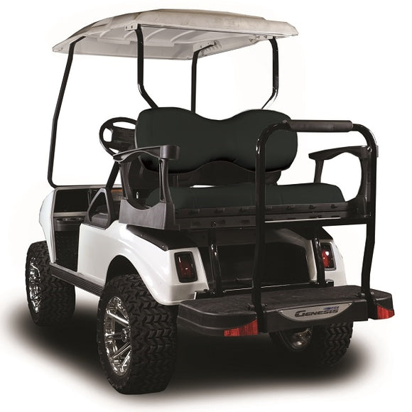 Madjax Genesis 250 with Deluxe Black Steel Rear Flip Seat – Fits Club Car DS