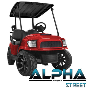 Club Car Precedent ALPHA Street Front Cowl Kit in Red (Fits 2004-Up)