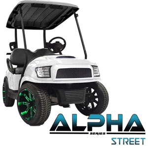 Club Car Precedent ALPHA Street Front Cowl Kit in White (Fits 2004-Up)