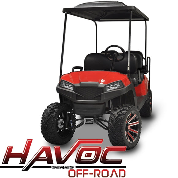 Yamaha G29/Drive HAVOC Off-Road Front Cowl Kit in Red (Years 2007-2016)