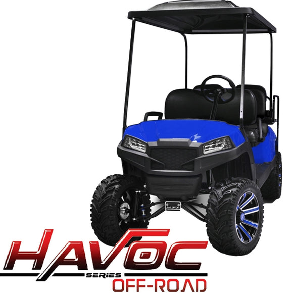Yamaha G29/Drive HAVOC Off-Road Front Cowl Kit in Blue (Years 2007-2016)