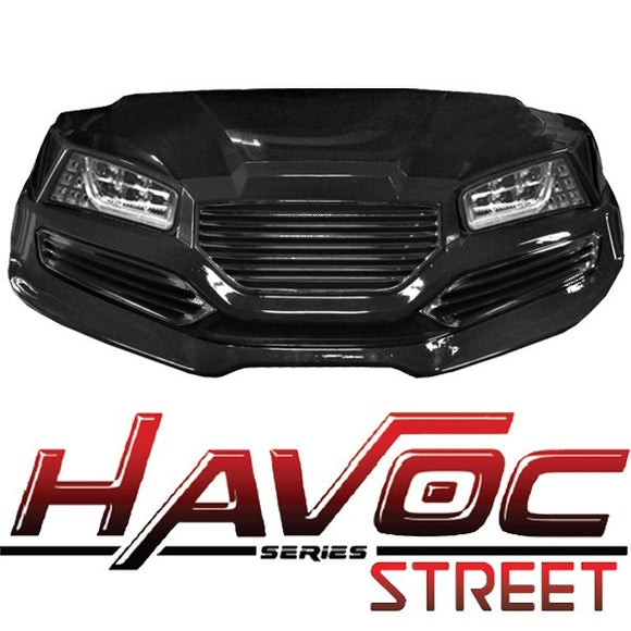 Yamaha G29/Drive HAVOC Street Style Front Cowl Kit in Black (Years 2007-2016)