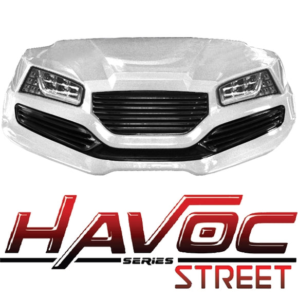 Yamaha G29/Drive HAVOC Street Style Front Cowl Kit in White (Years 2007-2016)