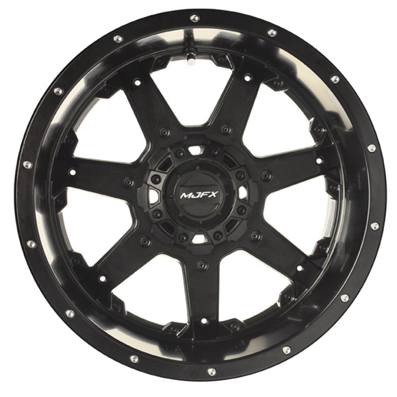 MJFX 14x7 Blackhawk Wheel, Black Satin