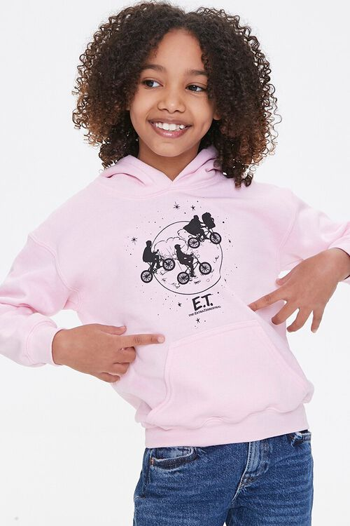 Girls Pink ET Moon Graphic Hoodie Pullover
