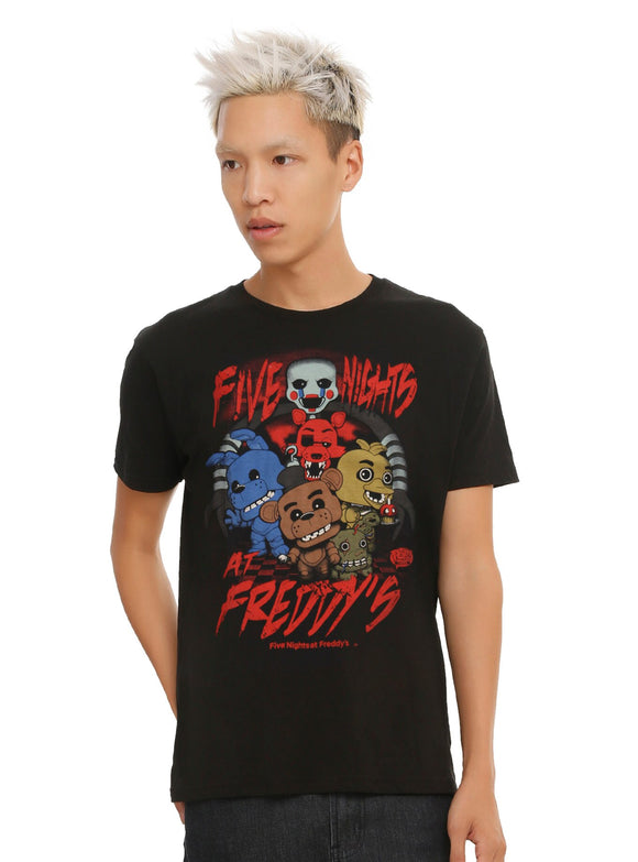 Mens Pop Funko Five Nights At Freddy's Group Tee T Shirt