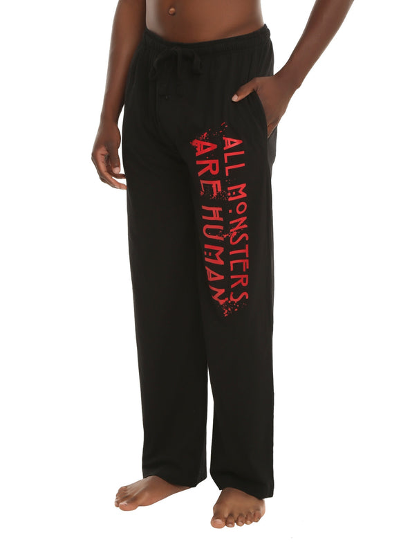 Men's American Horror Story All Monsters Are Human Sleep Pajama Pants