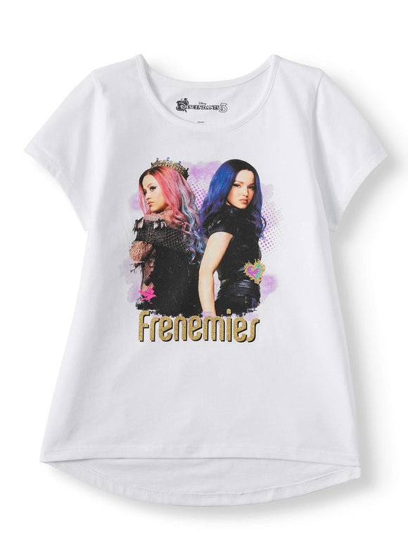 Girls Disney Descendants Glitter Frenemies T-Shirt Tee