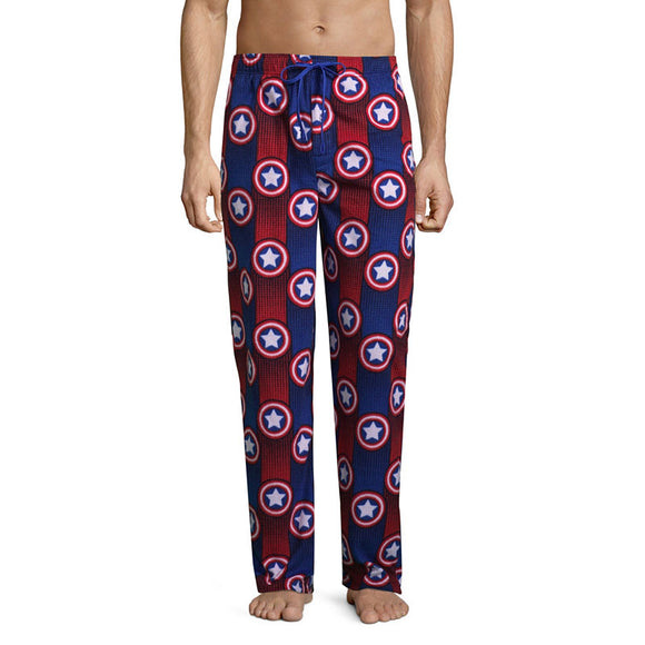 Men's Marvel Captain America Fleece Sleep Pants Pajama Bottoms