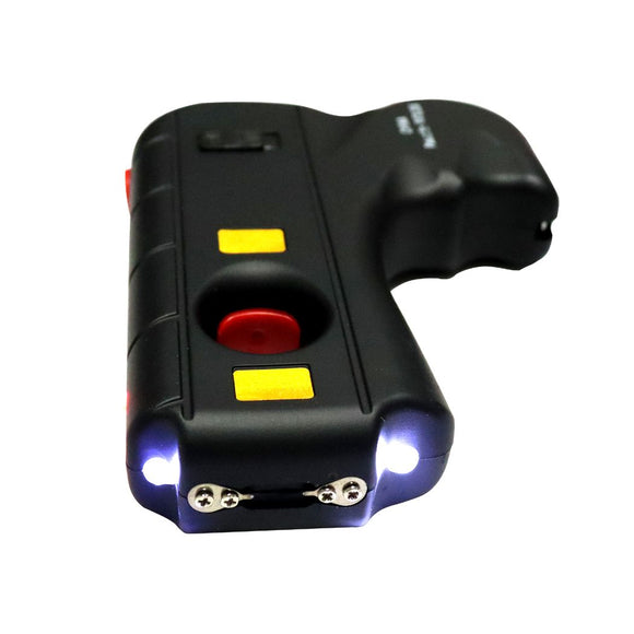 SH 13813-BK Black Gun Stun Gun with LED Light 10MV Hard Case