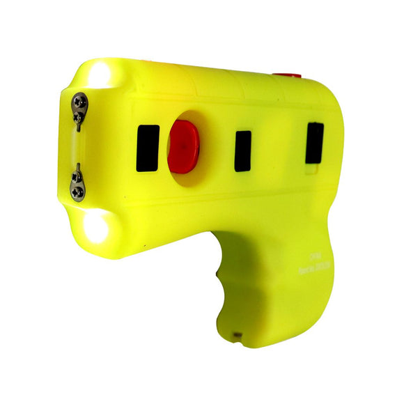 SH 13814-YW Yellow Gun Stun Gun with LED Light 10MV Hard Case