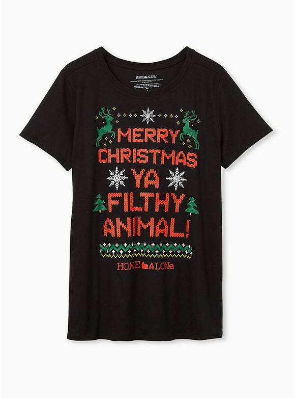 Women's Plus Home Alone Filthy Animals Crew Tee