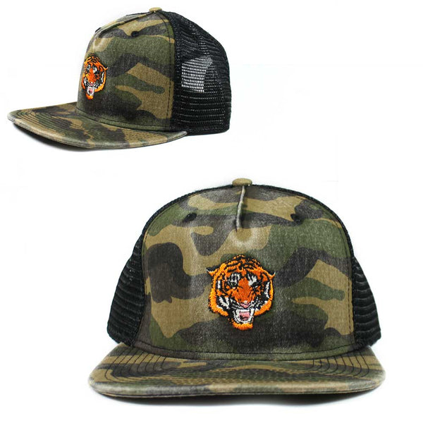Bengali Tiger Trucker Snap back snapback Camo Hat Cap Men's Adult Size