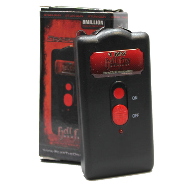 DF-10940 1MKV Slim Black Rechargeable Stun Gun with Sheath